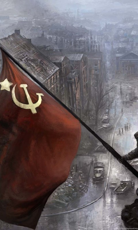 Soldier Iphone Wallpaper Wallpapers Flag Ussr Soviet Union On Reichstag Building