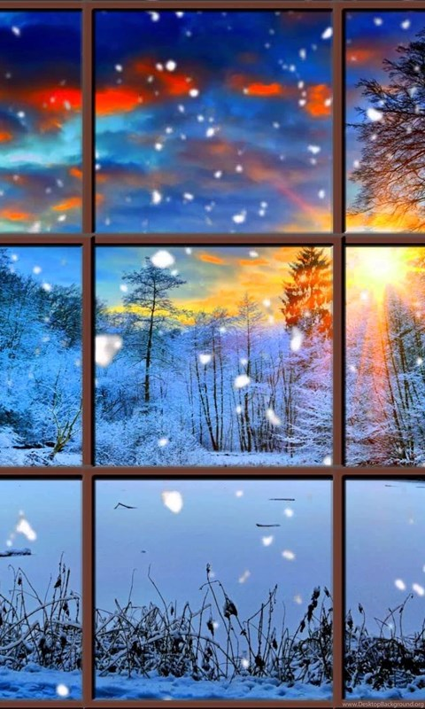 Free Ipod Wallpapers Hd Winter Window Snow Scene In 4k Living Wallpapers With