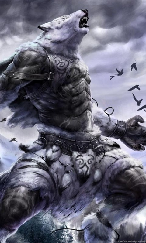 Skyrim Wallpaper Hd 1600x900 Werewolf Warrior Wallpapers Fantasy Wallpapers Desktop