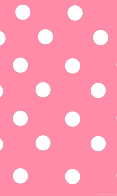 Cute Pink Iphone Wallpaper Hd Polka Dot Pink Wallpaper Backgrounds Here You Can See