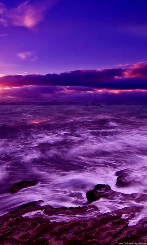 Wallpaper Iphone 4s Size Purple Sea Wallpapers Desktop Background