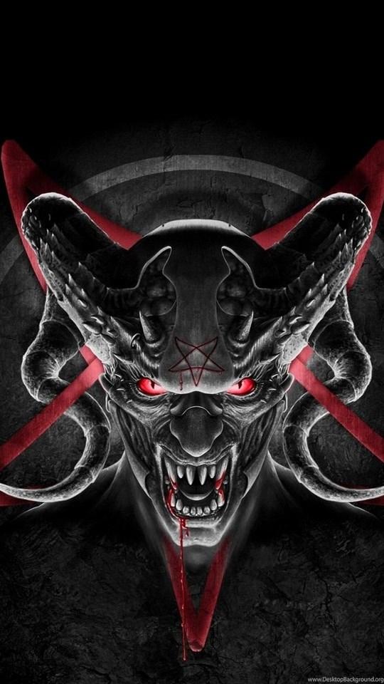 Iphone 5c Color Wallpaper Wallpapers Demon Devil Horns Satan Pentagram Desktop
