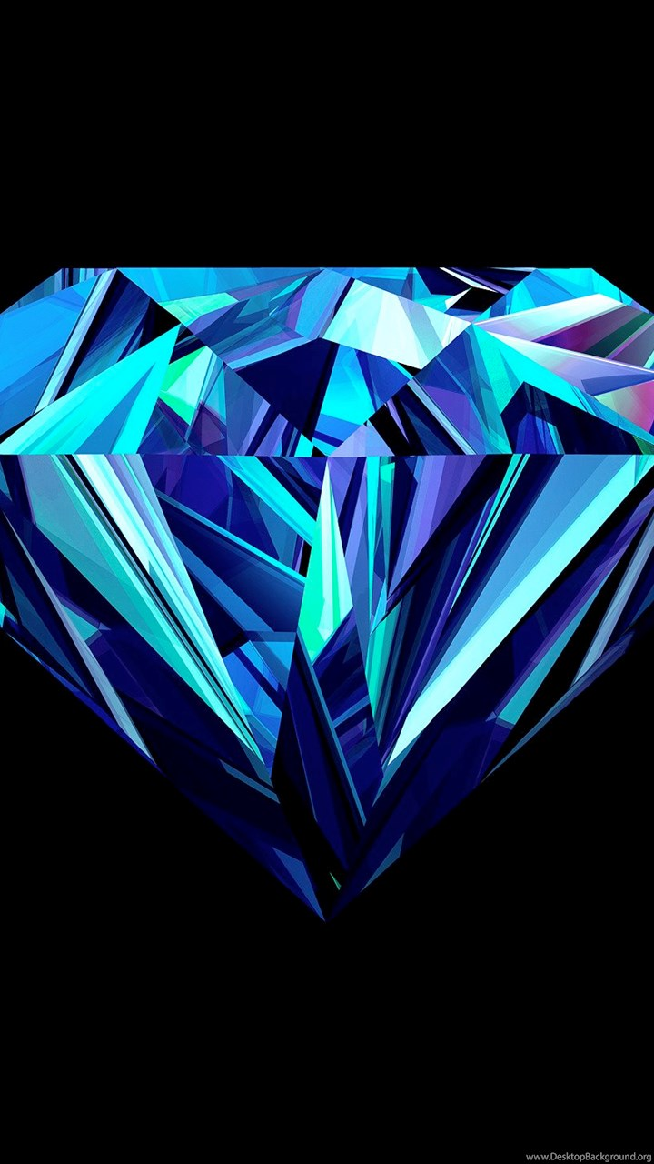 Iphone X Full Wallpaper Size High Resolution Blue Diamond Wallpapers Hd Full Size