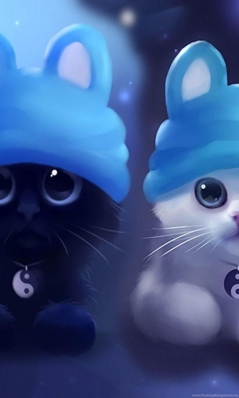 Cute Cat Cartoon Iphone Wallpaper Girly Backgrounds Desktop Desktop Background