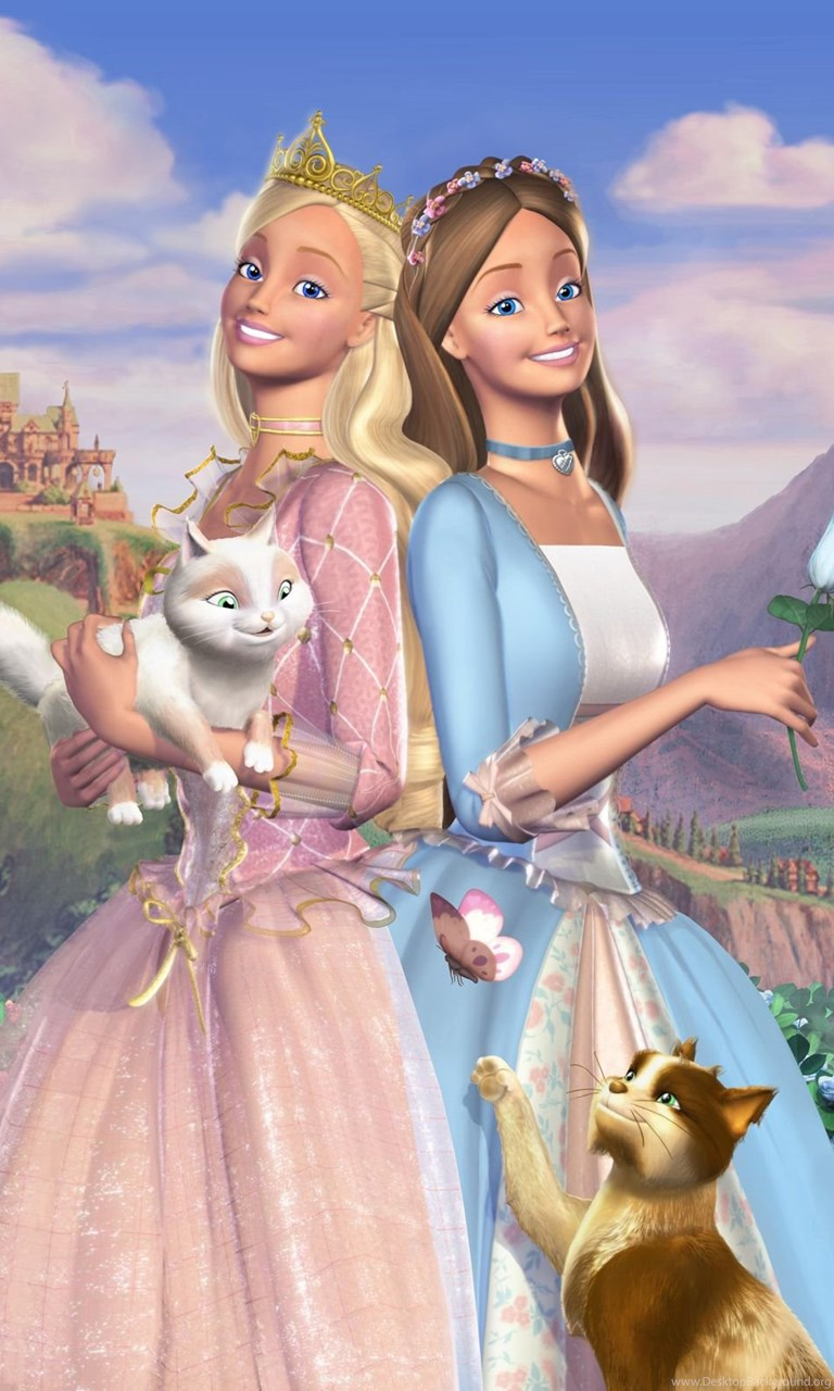 Iphone 4s Wallpapers Free Anneliese And Erika Barbie Princess And The Pauper