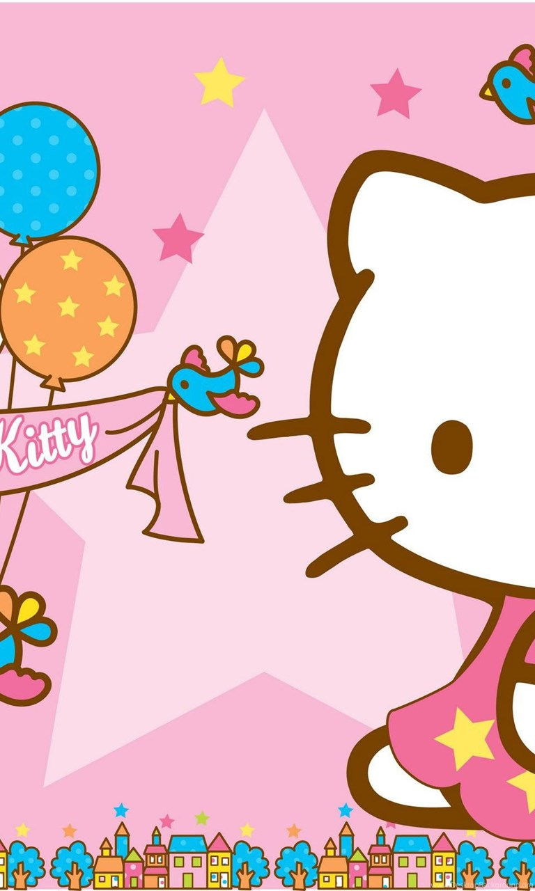 Hello Kitty Wallpapers Pink Backgrounds And Balloons For