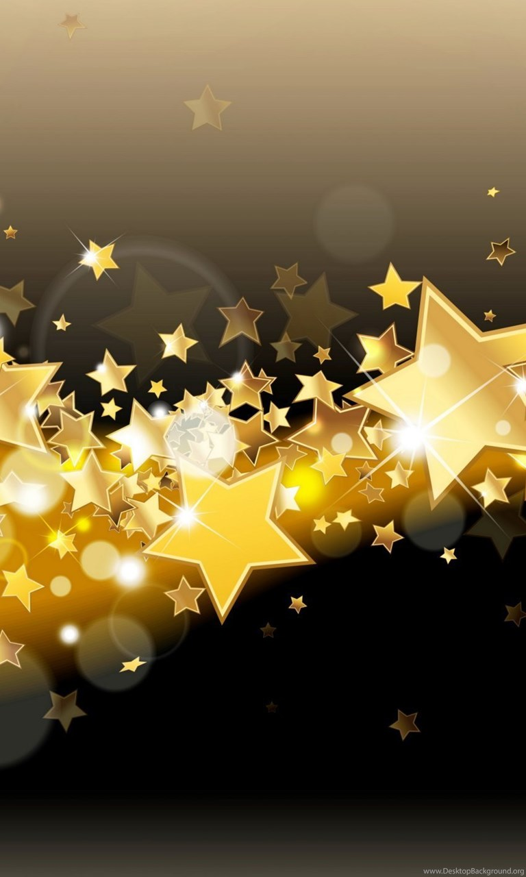 Free Ipod Wallpapers Hd Golden Stars Sparkle Glitter Glow Backgrounds Backgrounds
