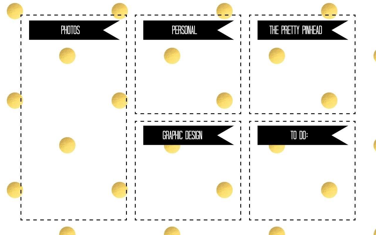 Cute Desktop Wallpaper Teacher White Gold Spots Photo Graphics Desktop Organizer