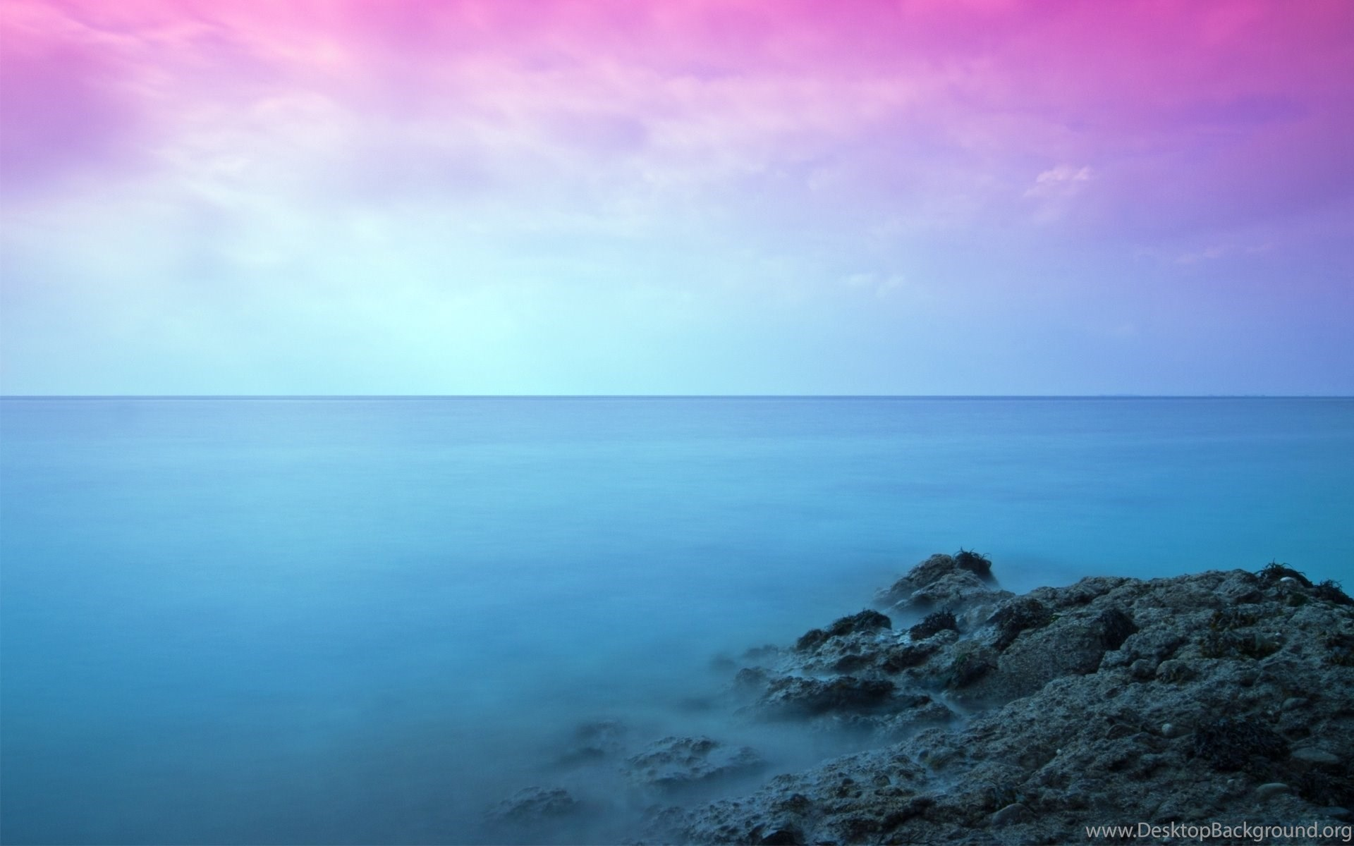 Iphone 5s Stock Wallpaper Pink Sky Rock Sea Nature 1920x1200 Hd Wallpapers And