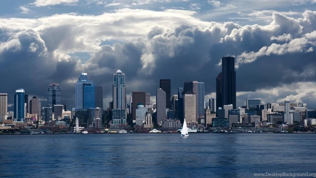 Chicago Iphone X Wallpaper Seattle Skyline 1280x720 720p Wallpapers Hd Wallpapers