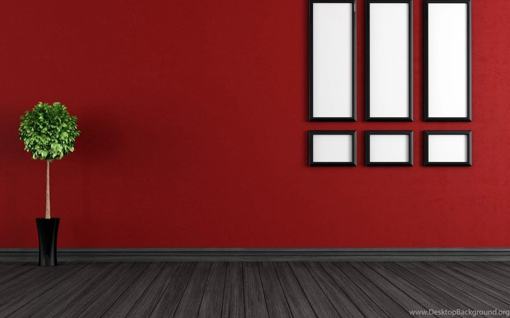 Red Walls Room Interior Wallpapers HD Of Home Decoration Desktop Background