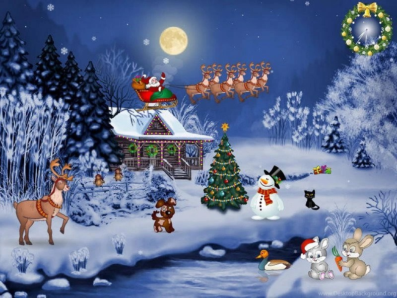 free animated christmas wallpapers desktop background - Free Animated Christmas Wallpaper