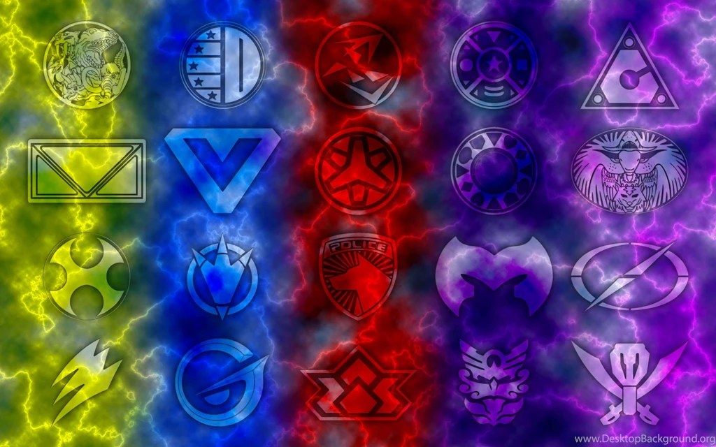 Mighty Morphin Power Rangers Iphone Wallpaper Power Rangers Megaforce Logo Wallpapers Desktop Background