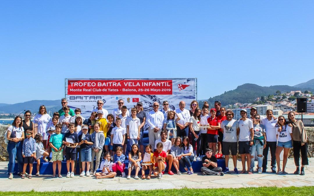 El náutico de Vigo y el Monte Real se reparten los triunfos del Trofeo Baitra de vela infantil