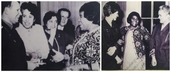 ZM con Yuri Gagarin y Valentina Tereshkova
