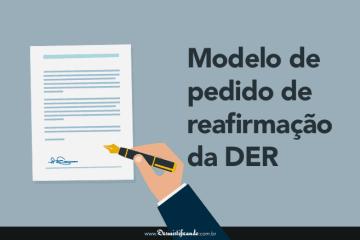 Modelo de Pedido de Reafirmação da DER (judicial)