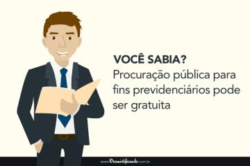 Procuração pública para fins previdenciários