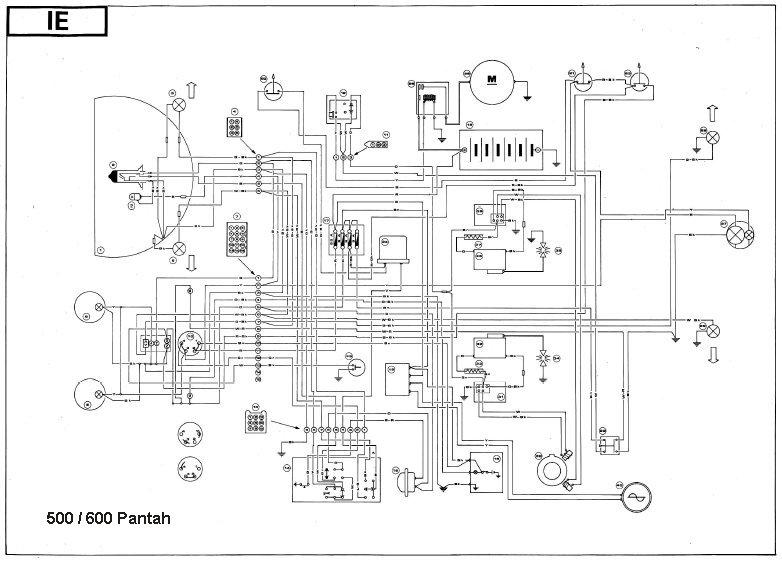 Schaltplan Ducati Einzylinder / Zweizylinder