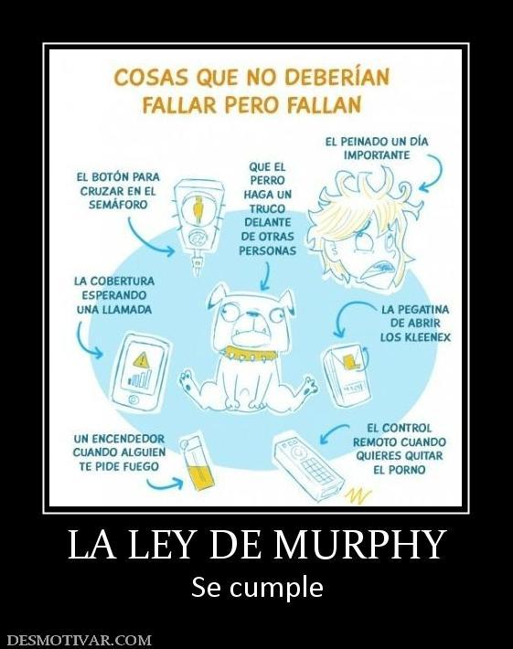 Resultado de imagen para ley de murphy