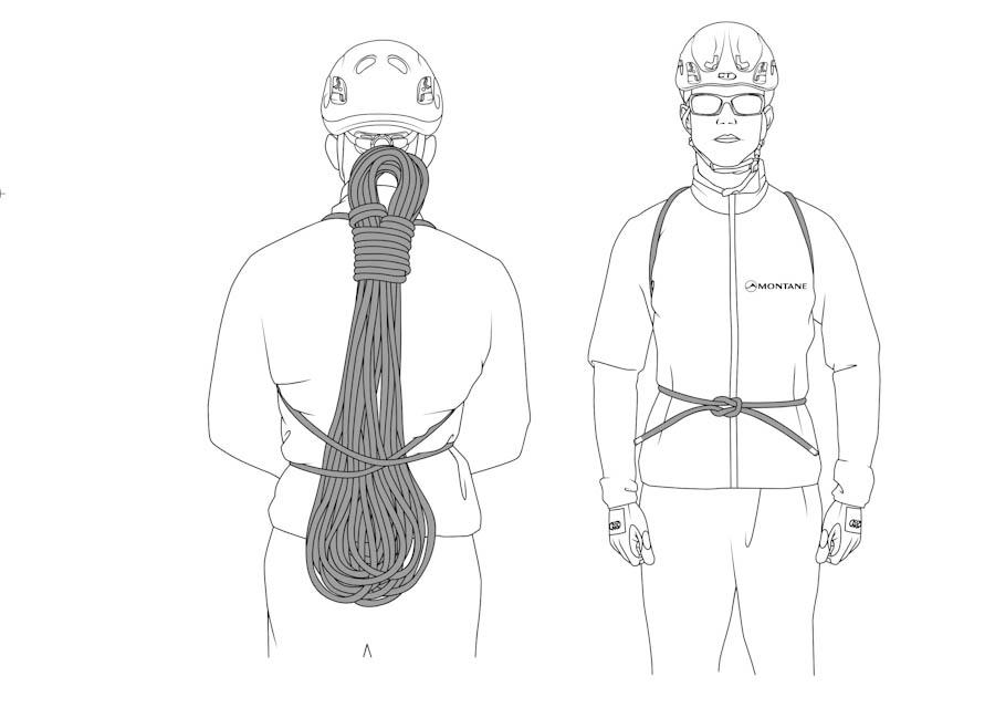 Cómo plegar la cuerda en modo mochila