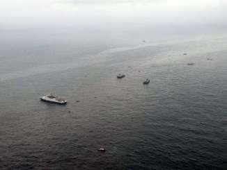 Labores de rescate en el mar negro por el siniestro de avión ruso