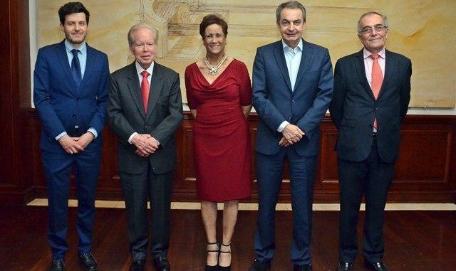 Rafael Moreno, Jose Luis Corripio, Florinda Rojas, Jose Luis Rodriguez Zapatero y Alberto Navarro.