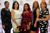 Plantida Reyes, Ana Lopez, Blanca Gonzalez, Doris Almanzar y Dinamarca Bermudez.