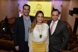 Jorge Rodríguez, Michelle Mendizábal y Luis De León.