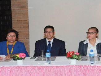 La directora Nacional de Provincias, Altagracia Fernández. el viceministro de Cultura, Juan Morales, y la directora de Formación y Capacitación, Rosa Elena Rodríguez.