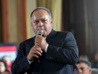 Diosdado Cabello, segundo hombre fuerte del chavismo, durante la instalación de la Asamblea Nacional Constituyente, en agosto de 2017.