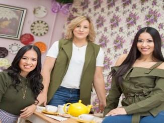 Ana Bencosame, Yohanna Hilario y Rocío Figueroa