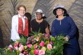 Nancy Alam, Delta Batista y Doris Miguel.