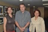 Martha Lucia Albelaes, Luigi Pasine y Marian Ventura.