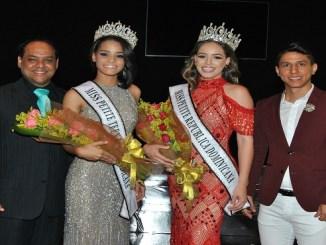 Nelson Reynoso, Miss Pettite Teen 2018 Hillary Avilez, Miss Pettite 2018 Ashley López, y Joaquin Sánchez