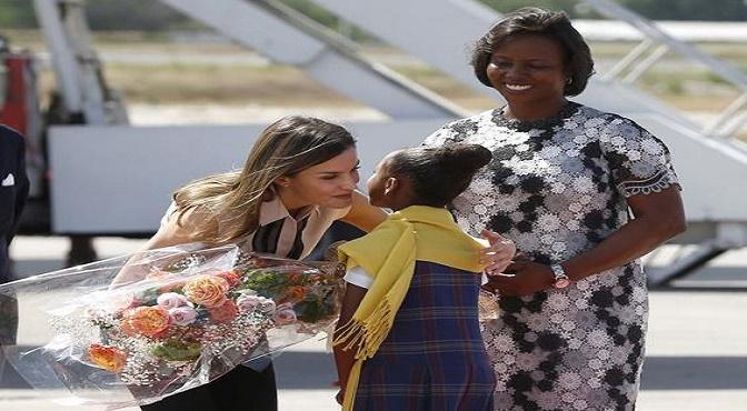 Haití recibe a reina Letizia
