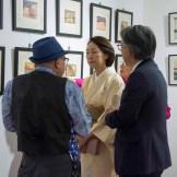 Parte del público que observa la muestra cultural de Japón y República Dominicana en el Centro Cultural Banreservas.