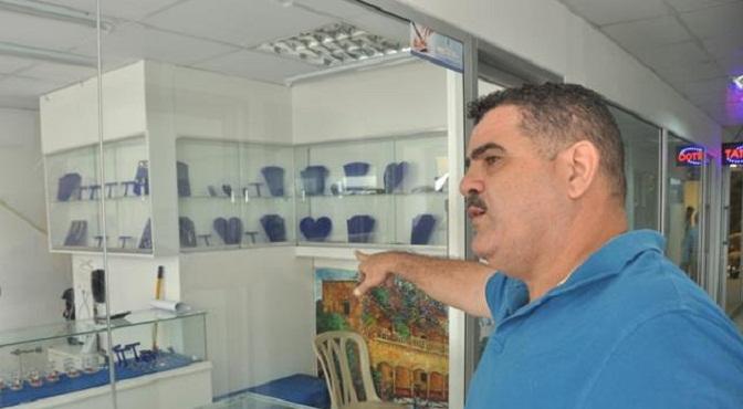 Yovanny Suárez, propietario de la Joyería Suárez, en la calle El Conde, donde fue asesinada la empleada Anneris Peña Reyes