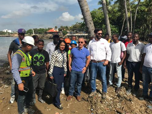 ACOPROVI se suma a jornada de limpieza Malecón