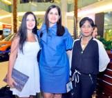 Susana Ortega, Melida Portorreal y Jeanine Alfonso.