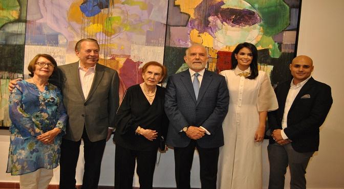 Marianne de Tolentino, Eduardo Selman, Elsa Peña de Hazoury, Manuel Hazoury Peña, Judith Cury y Amaury Dargam
