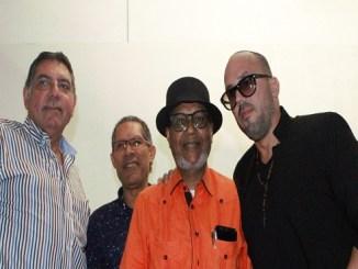 Gamal Michelen, Amable López Meléndez, Abil Peralta Agüero y Walter Otero en el Centro Abreu