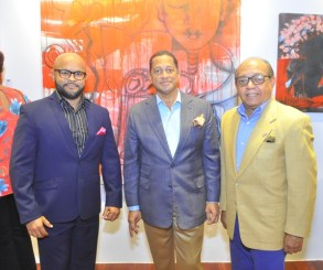 Luis Heredia, Mayobanex Garcia y Andres Lora.