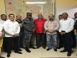 Empresarios que visitaron al coronel Juan Francisco Solano Jáquez