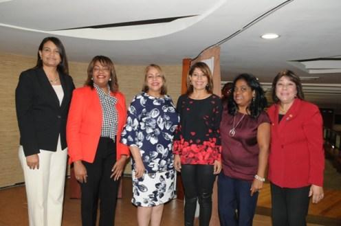 Rossy Escoto, Amarilys Dujran, Luisa de Aquino, Bethania Luperon, Miguelina Santos y Miledys Salcedo de Pilarte.