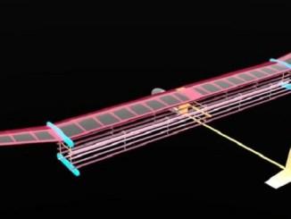 Imagen del diseño del prototipo, que pesa 2,5 kilos y mide 5 metros.