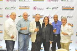 Pierre David, Mariano Hernandez, Persio Perez, Ingrid Arias, Miguel Rivera y Pedro Guzman.