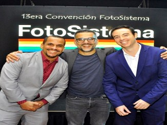 Gary Olivo, Jochy Fersobe y Gabriel Aspas, gerente general fotosistema.