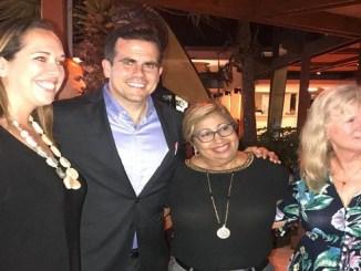 Carla Campos Vidal, directora Ejecutiva de la Compañía de Turismo de Puerto Rico (CTPR), Ricardo Rosello, gobernador PR, Orfila Salazar, directora Cruceros Mitur y Michele Paige, presidenta de la Asociación de Cruceros de Florida y el Caribe, (con su siglas en inglés- FCCA)
