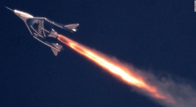 ¡Virgin Galactic lo logró! Su avión supersónico llegó al espacio, marcando un hito para el turismo espacial