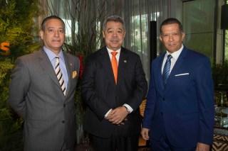 Rienzi Pared Pérez, Orión Mejía y Reyes Guzmán